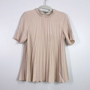 Cos blush pink pleated A-line blouse 4